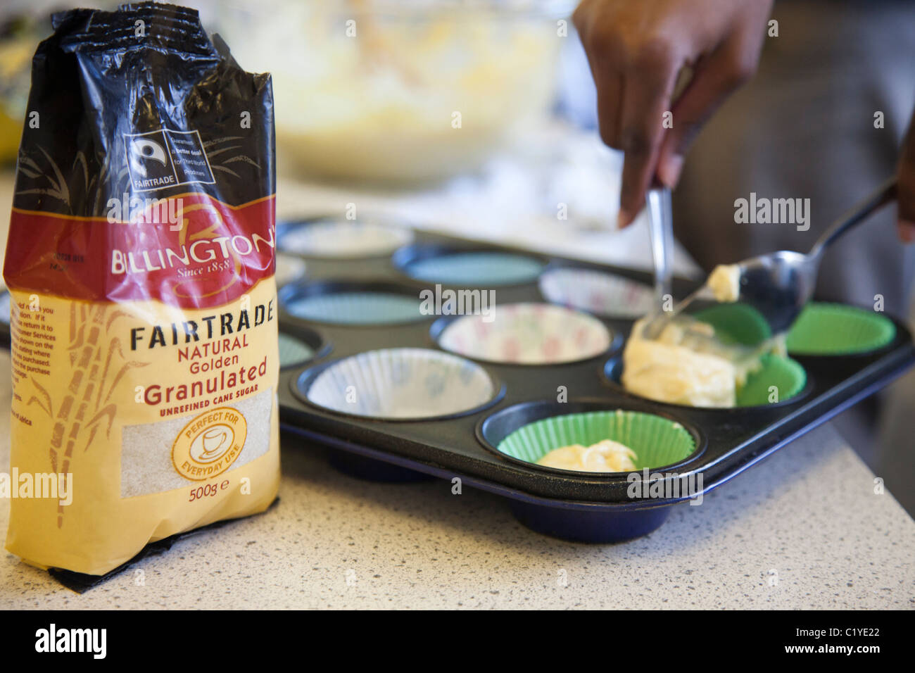 cooking fairtrade 'fair trade' products - Stock Image