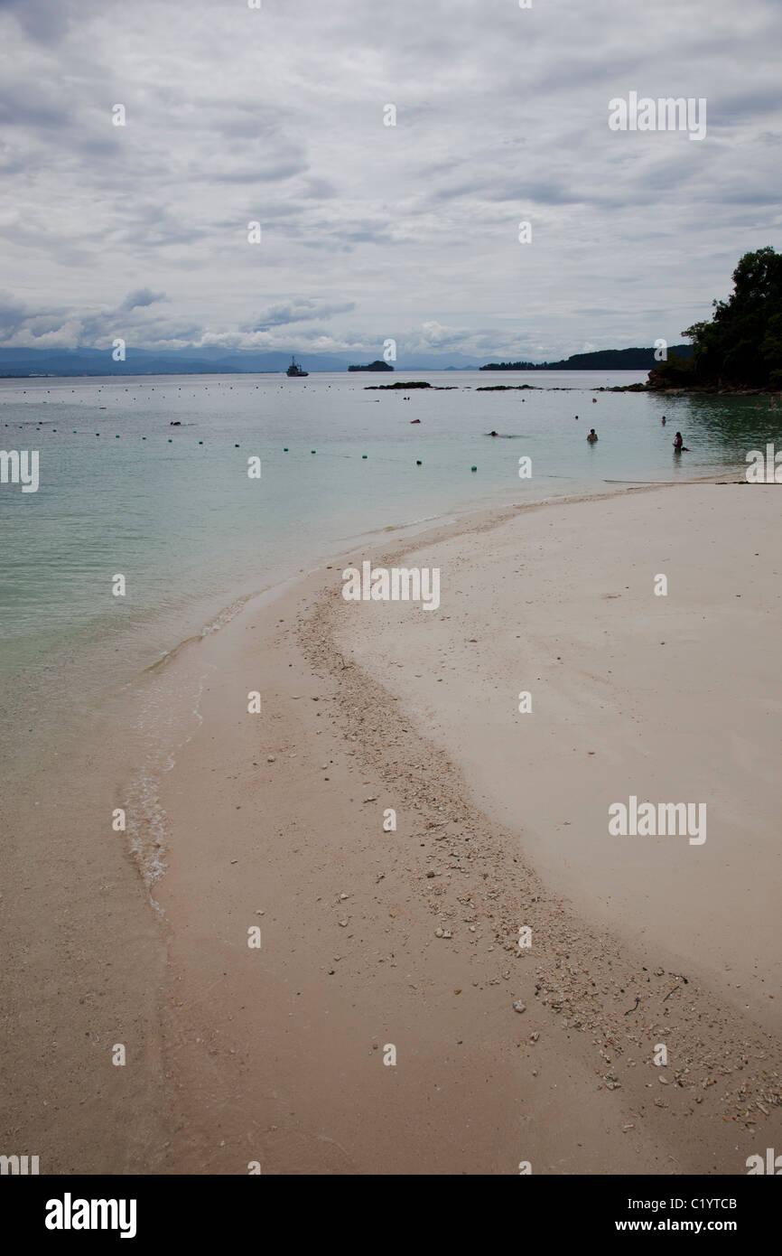 Beach of Sapi island, Sabah, Kota Kinabalu, Malaysia - Stock Image