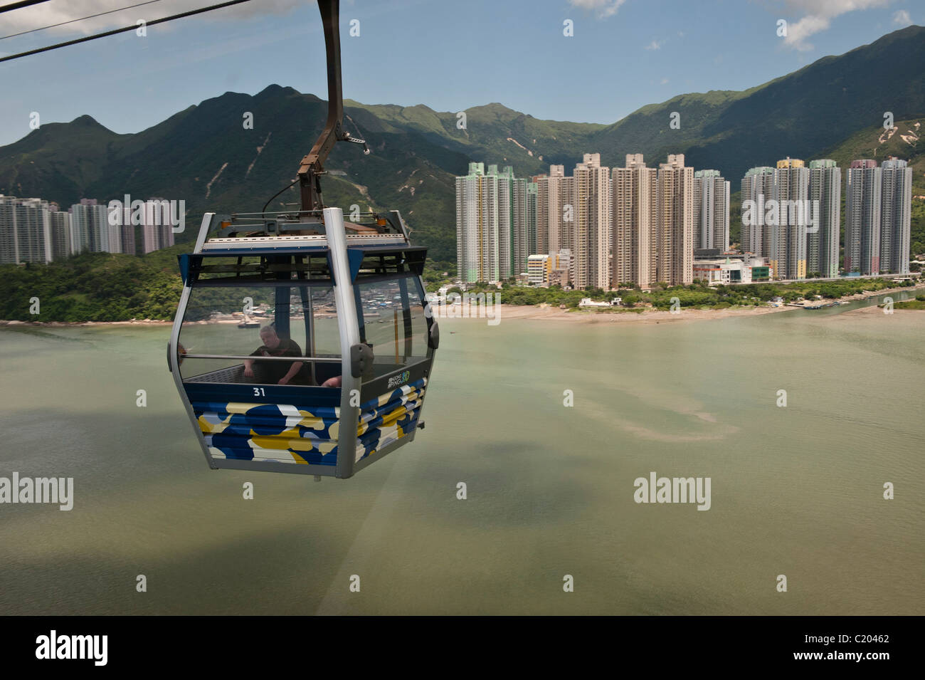 The Ngong Ping 360 is a tourism project on Lantau Island in Hong Kong. - Stock Image