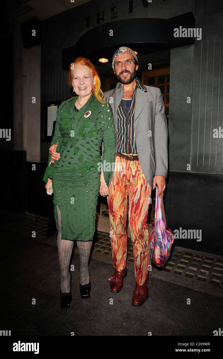 2ade8ac0e5a Vivienne Westwood and Andreas Kronthaler at the Topshop London Fashion Show  afterparty at The Ivy Club