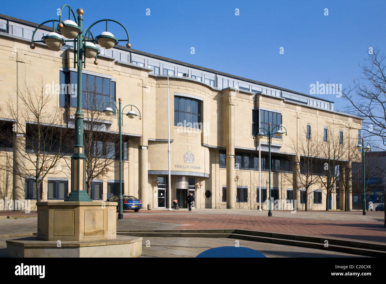 The Law Courts Bradford West Yorkshire England - Stock Image