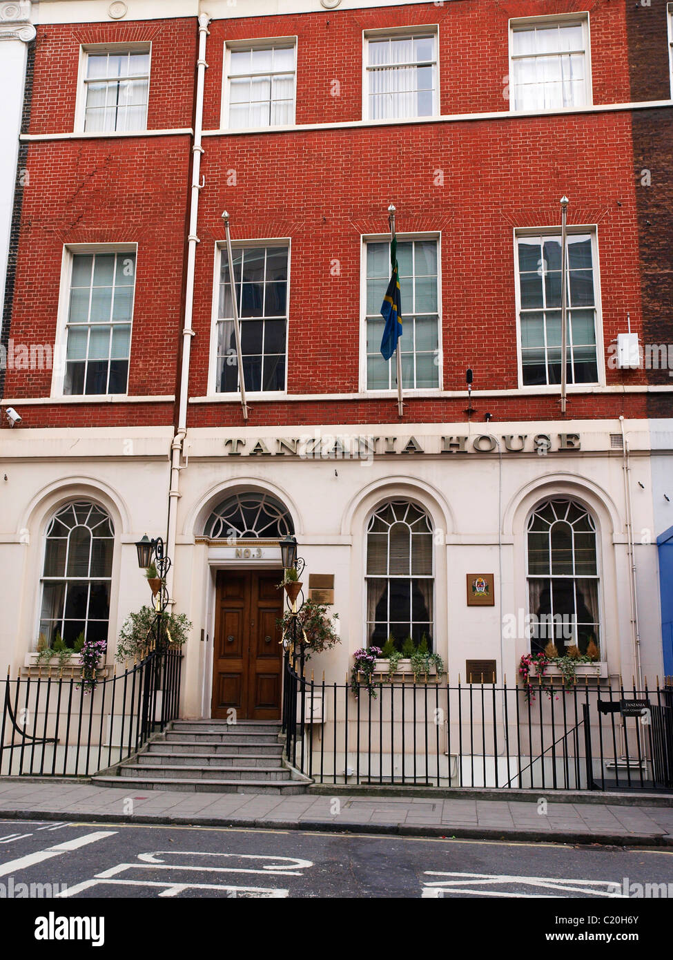 Tanzanian High Commission in London Tanzania House 3 Stratford Place London W1C 1AS - Stock Image