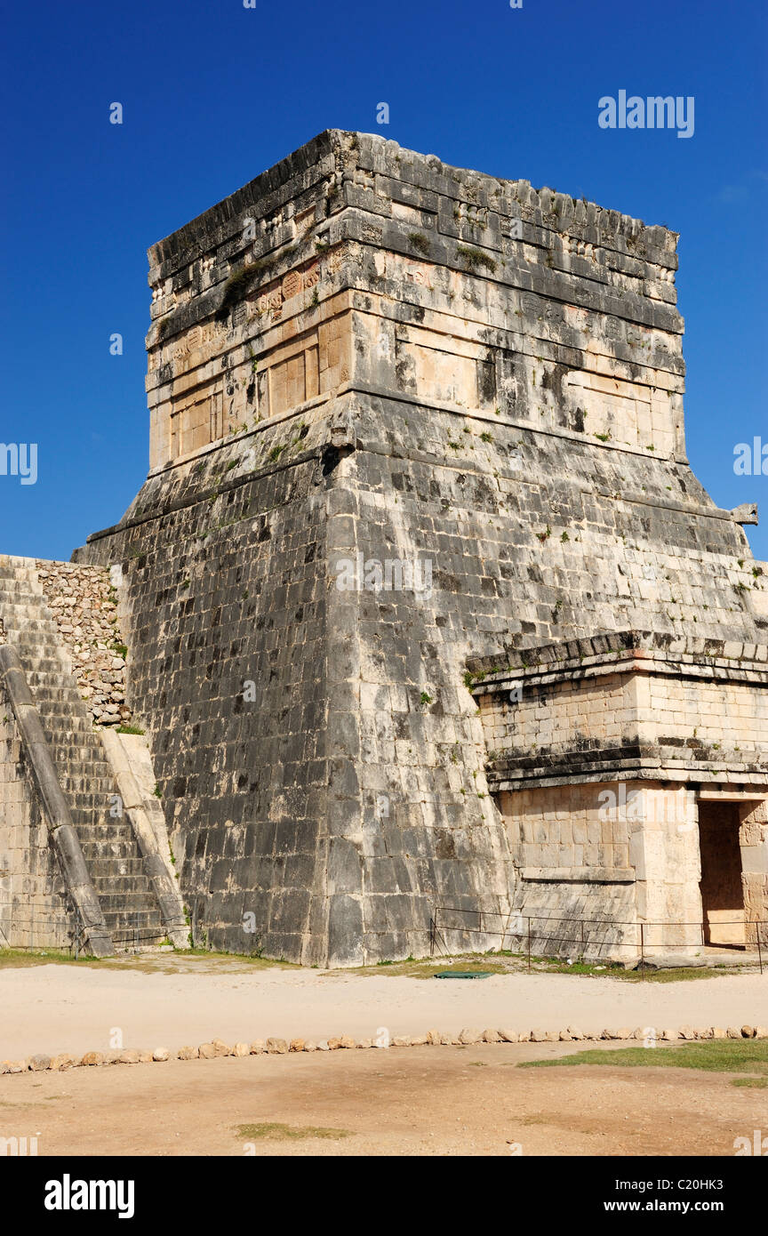 Temple of the Jaguars at Chichen Itza, Yucatan, Mexico - Stock Image
