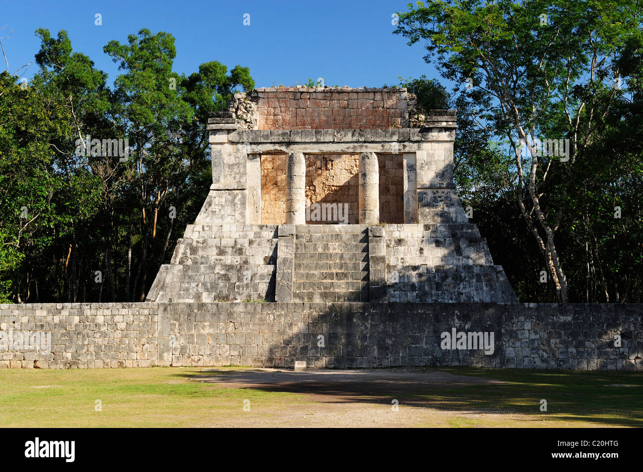 Temple of the North within the Ballcourt at Chichen Itza, Yucatan, Mexico - Stock Image