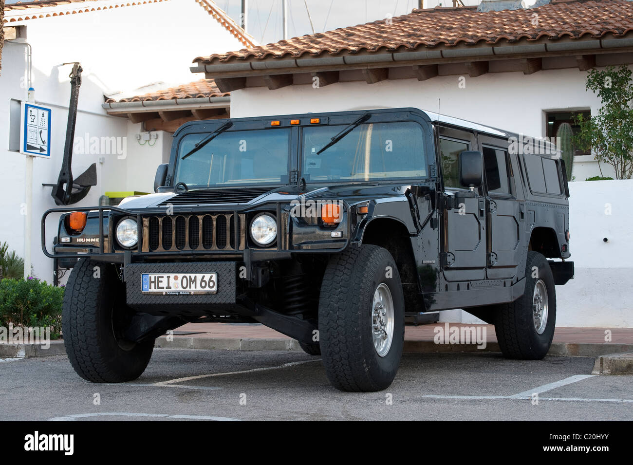Hummer H1 civilian off road vehicle in Spain. - Stock Image