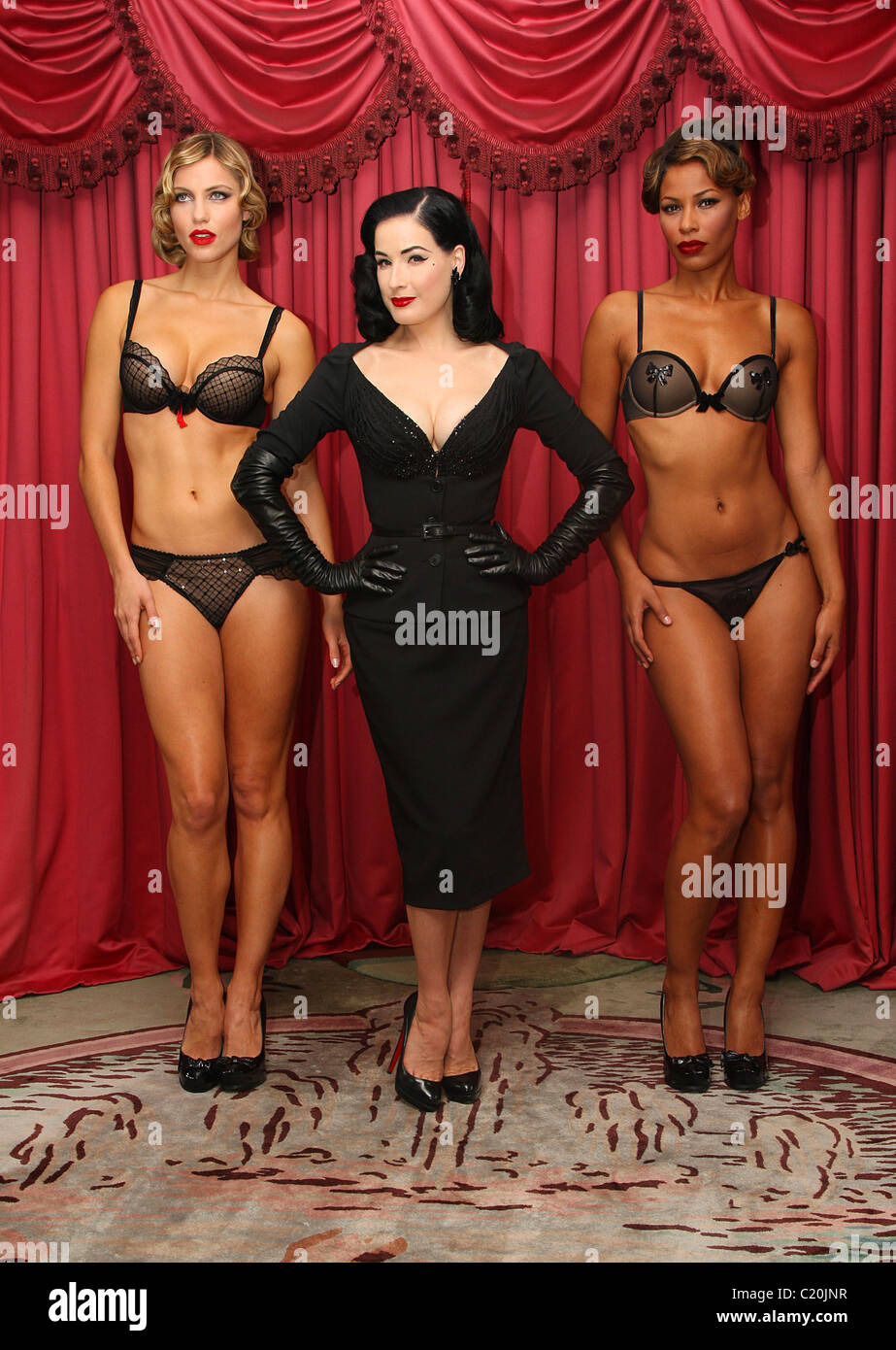 d3914b5d266f Dita Von Teese launches her Wonderbra Party edition lingerie collection at  the Dorchester hotel London