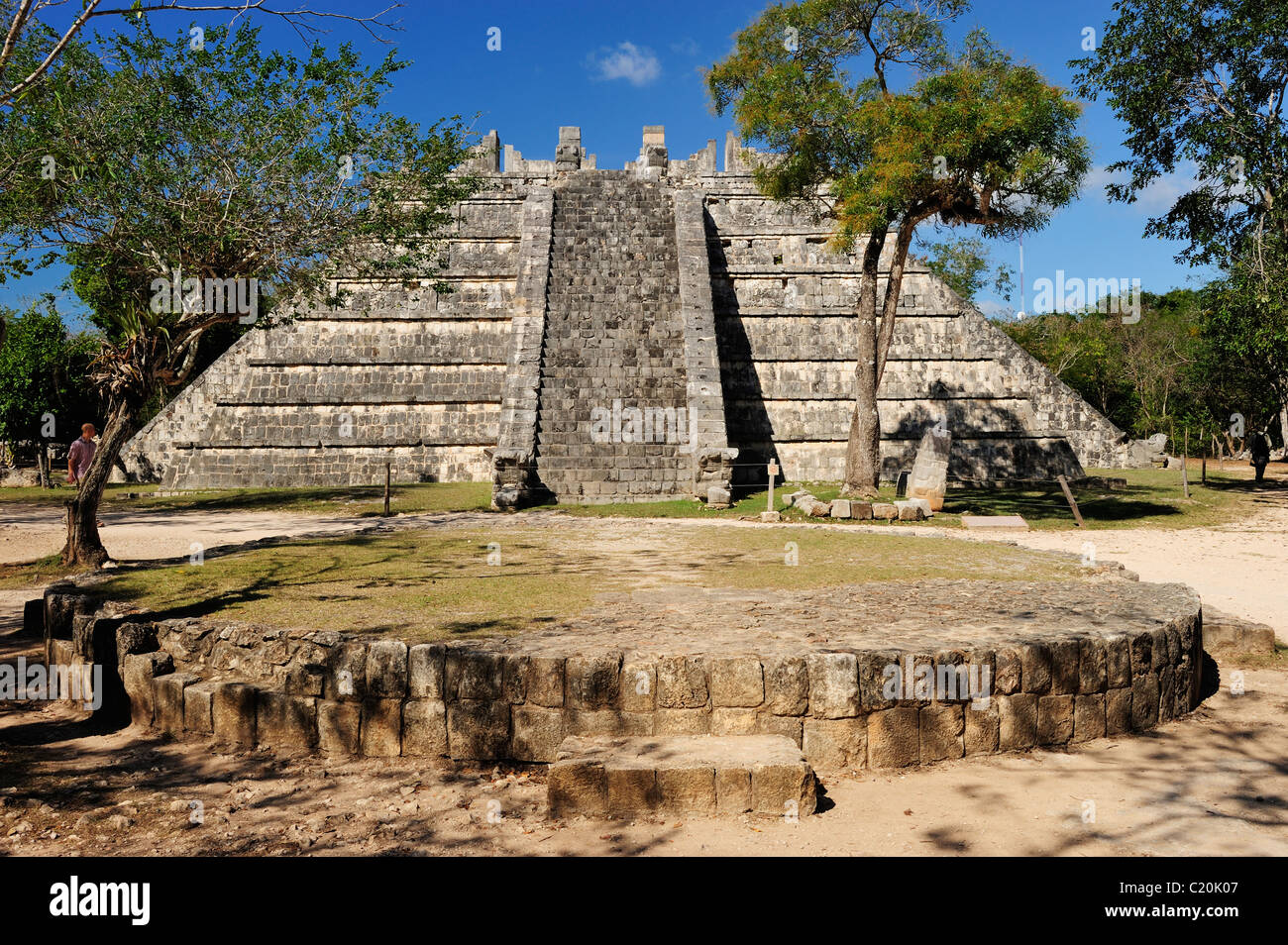 The Ossuary at Chichen Itza, Yucatan, Mexico - Stock Image