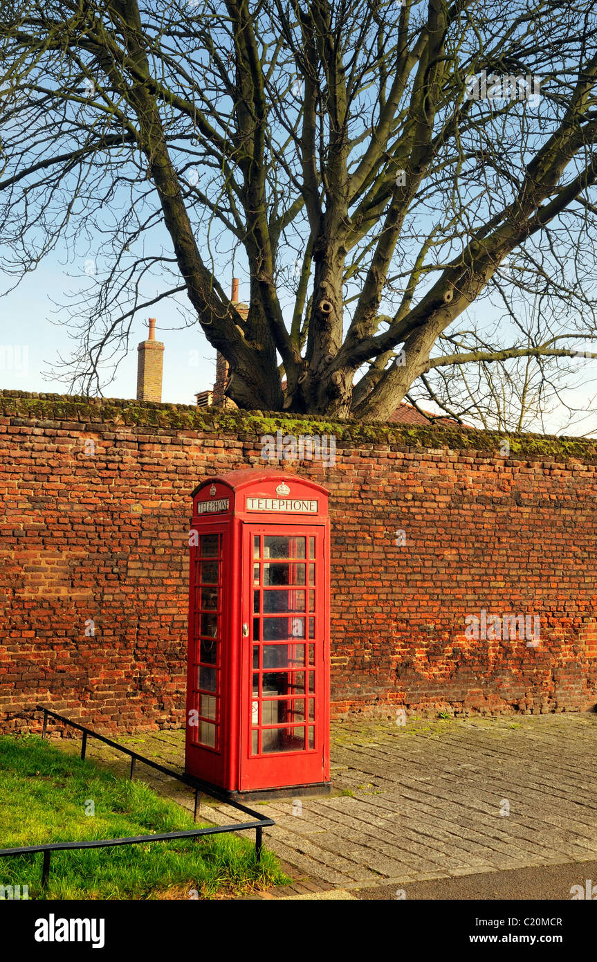 Red telephone box at Hampton Court ,London - Stock Image