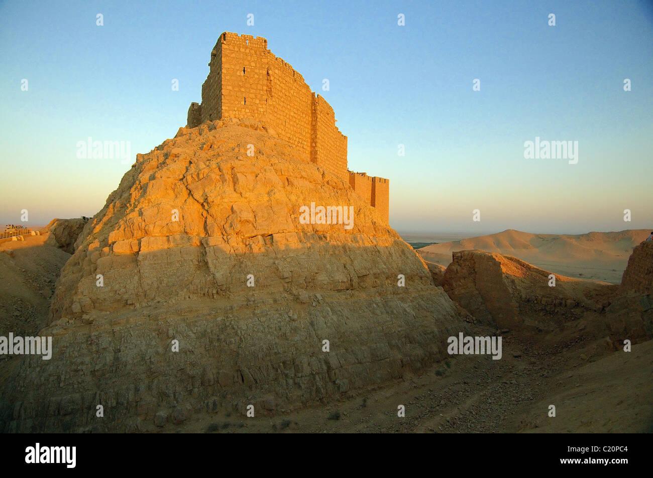 Palmyra Castle (Fakhr-al-Din al-Ma'ani Castle), Palmyra, Syria Stock Photo