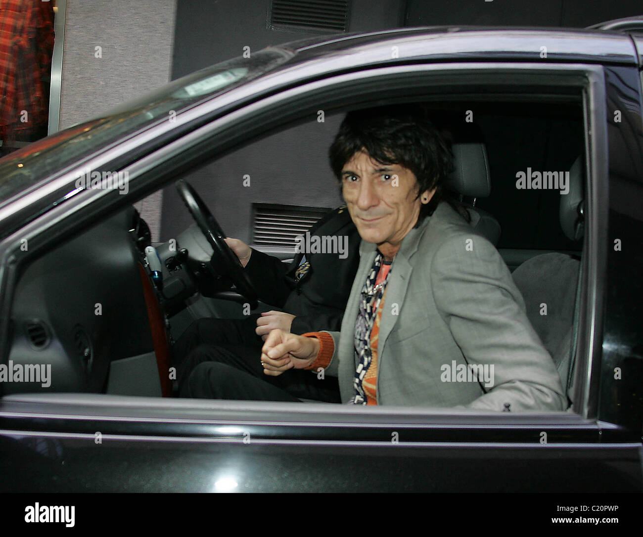 Ronnie Wood  arrives at BT2 in Grafton Street to play with his son Jesse's band 'Black Swan' as part - Stock Image