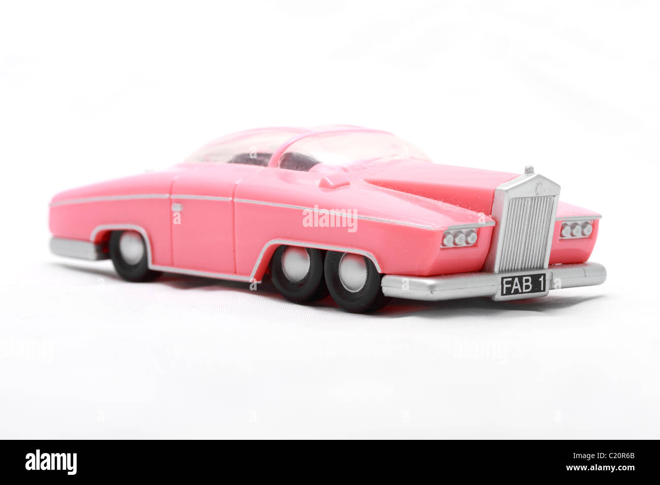 Lady Penelope's Rolls Royce toy or model from the Gerry Andersen TV puppet series Thunderbirds. Lady Penelope - Stock Image