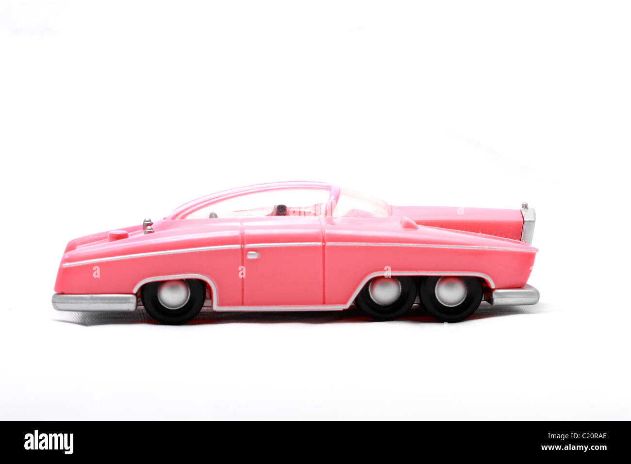 Lady Penelope's Rolls Royce toy model Gerry Andersen TV puppet series Thunderbirds car vehicle secret agent - Stock Image