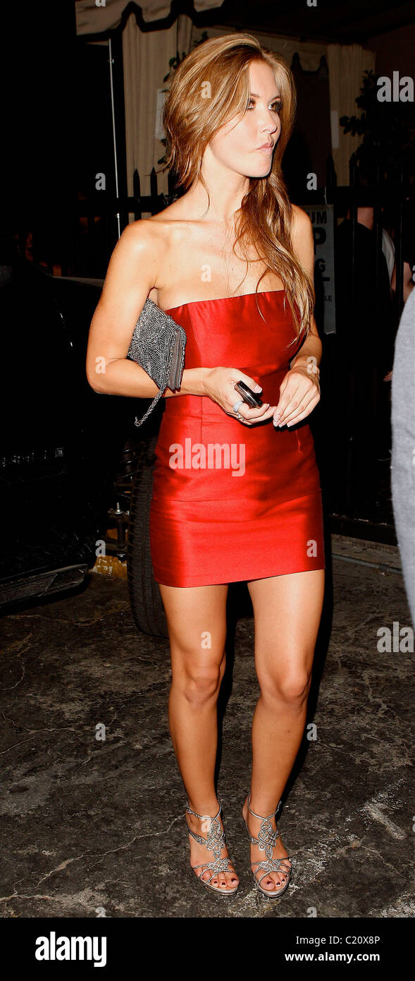 e431e0fbd4d Audrina Patridge outside Bardot Night club wearing a short red dress in  Hollywood. Los Angeles, California, USA - 24.09.09 ( ):