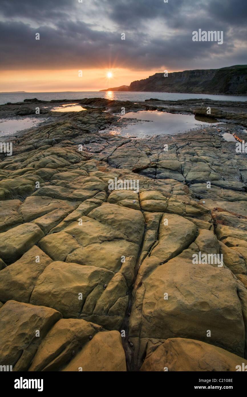 Kimmeridge Bay, Purbeck, Dorset, England, UK - Stock Image