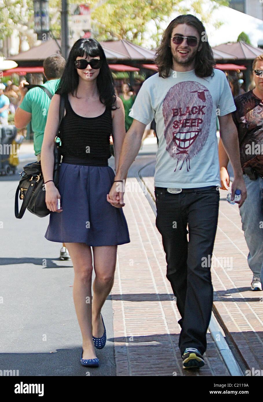 Actress Krysten Ritter and her boyfriend go shopping at a ...
