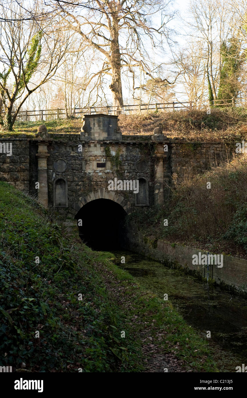 The Coates Portal and Kings Reach on the Thames and Severn Canal in Gloucestershire, England, United Kingdom Stock Photo