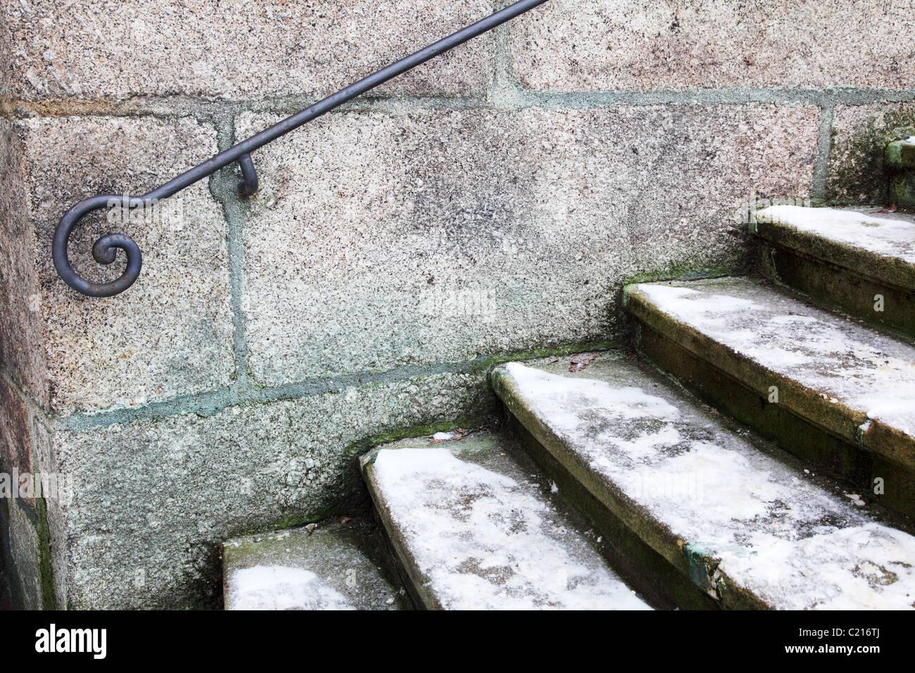 Metal handrail - Stock Image