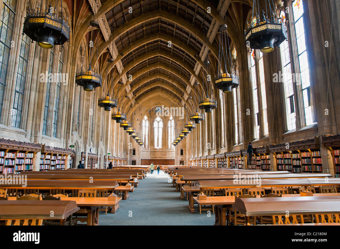 Graduate Reading Room in the Suzzallo Library at University of Washington, Seattle, USA Stock Photo