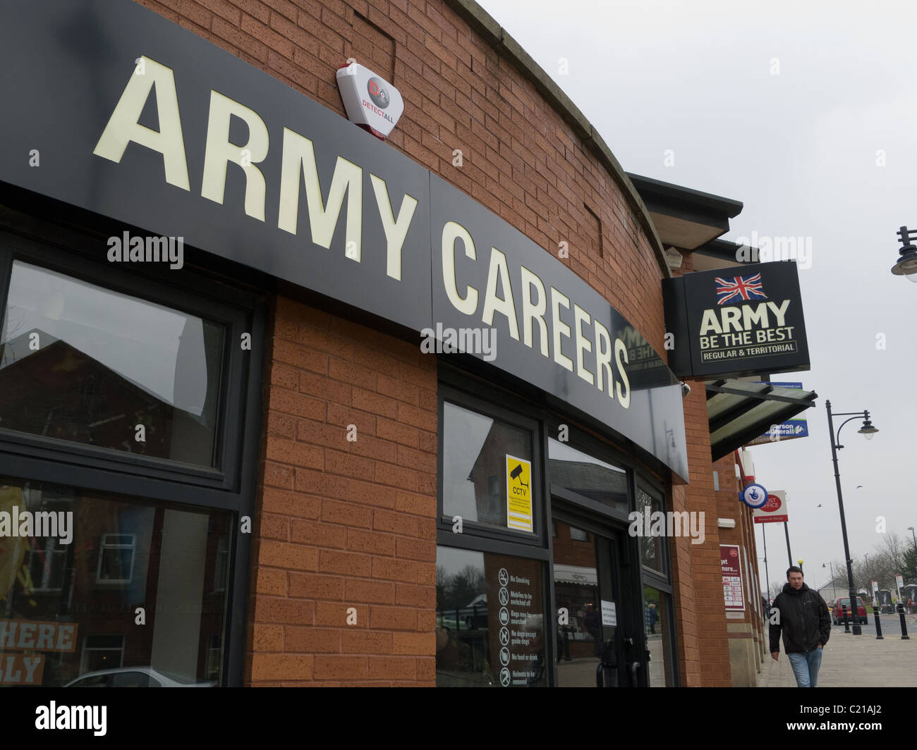 Army careers advice centre, Oldham, Lancs - Stock Image