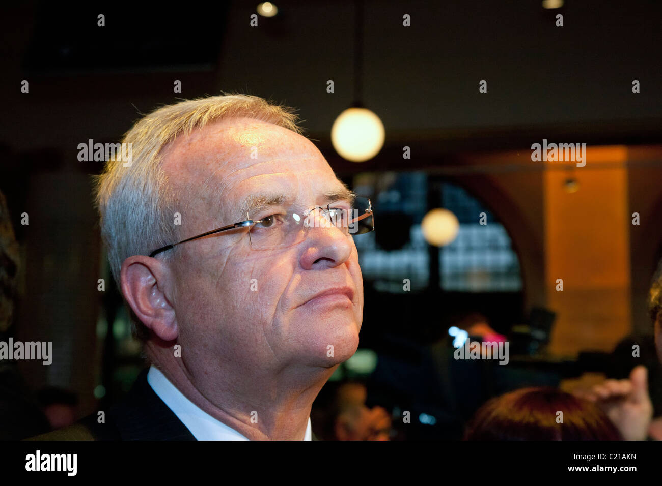 Detroit, Michigan - VW CEO Martin Winterkorn at a press reception during the North American International Auto Show. - Stock Image