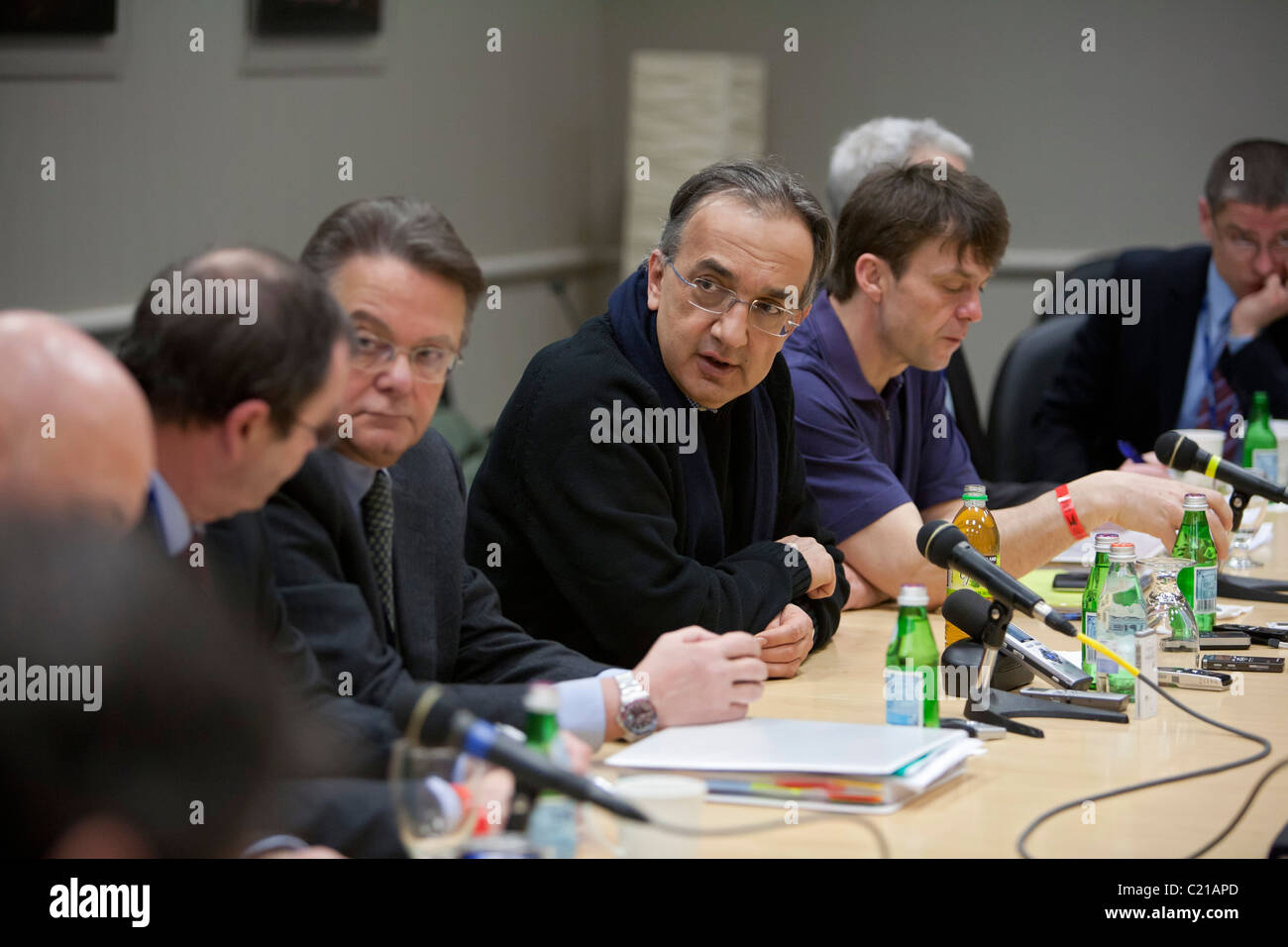 Sergio Marchionne, CEO of Fiat and Chrysler - Stock Image
