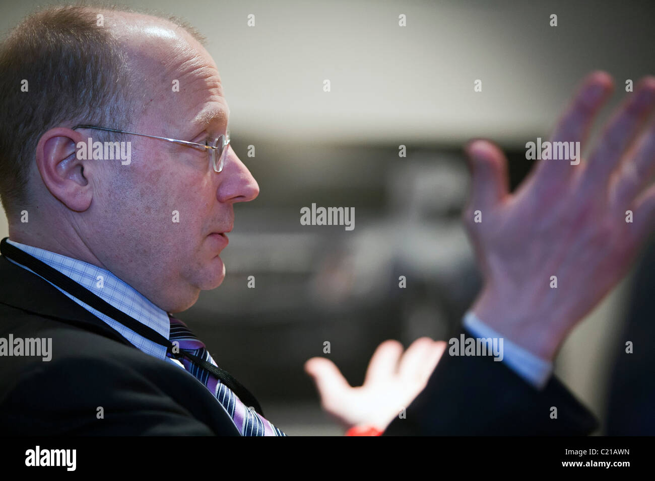 Detroit, Michigan - Stephen J. Girsky, General Motors Vice Chairman. - Stock Image