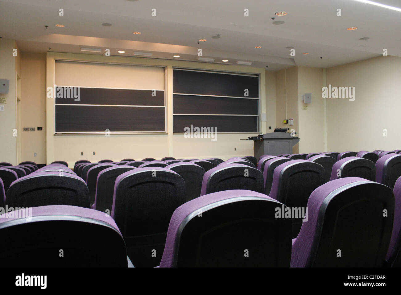 Empty university lecture room in USA. - Stock Image