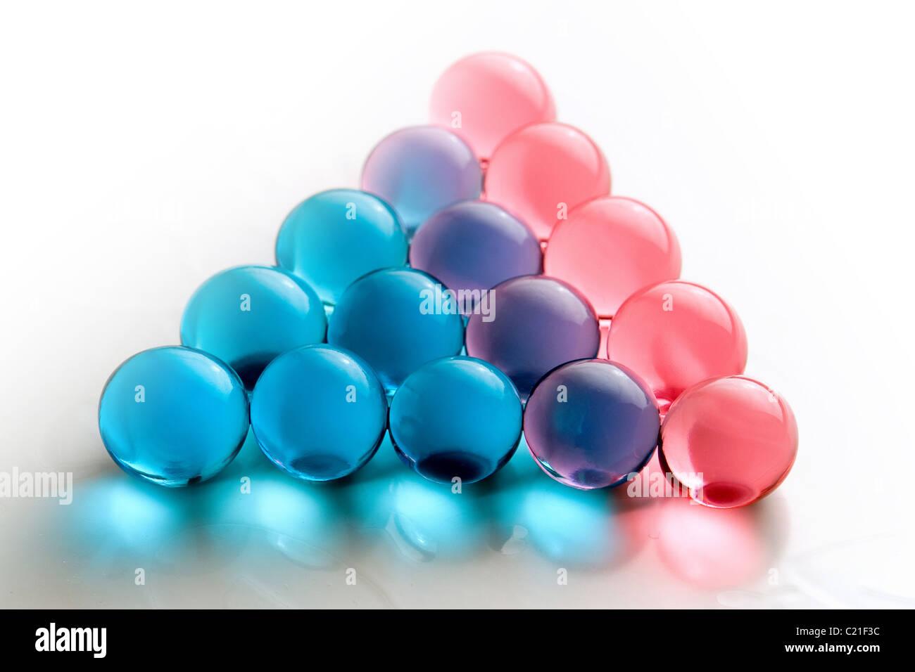 Batch of transparent gel balls, spa accessories - Stock Image