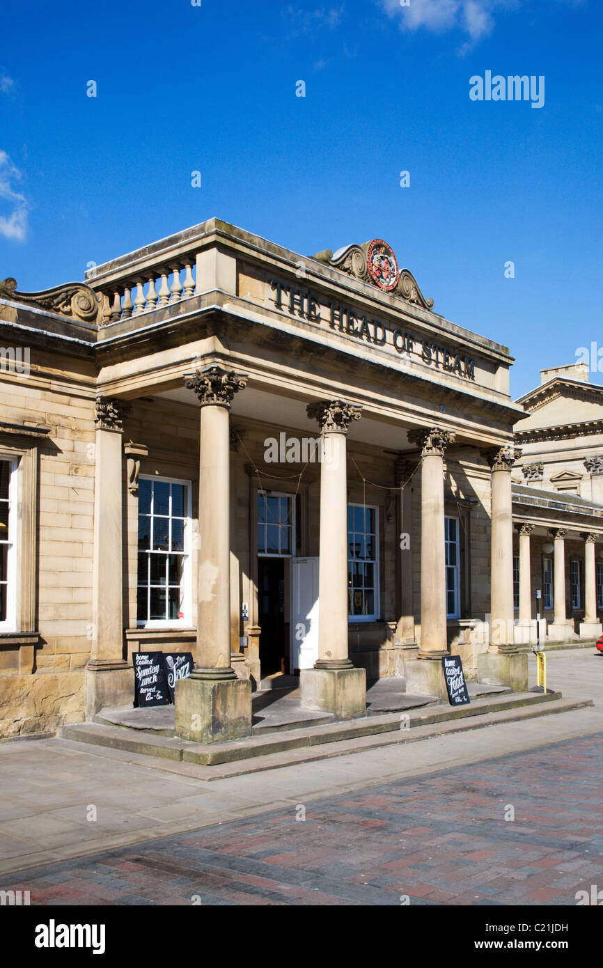 Head of Steam at the Railway Station Huddersfield West Yorkshire - Stock Image