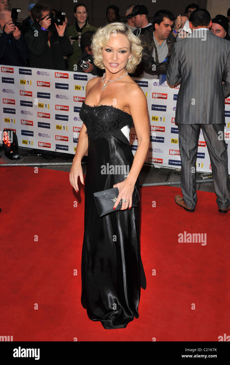 Kristina Rihanoff Pride of Britain Awards held at the Grosvenor House - Arrivals London, England - 05.10.09 - Stock Image
