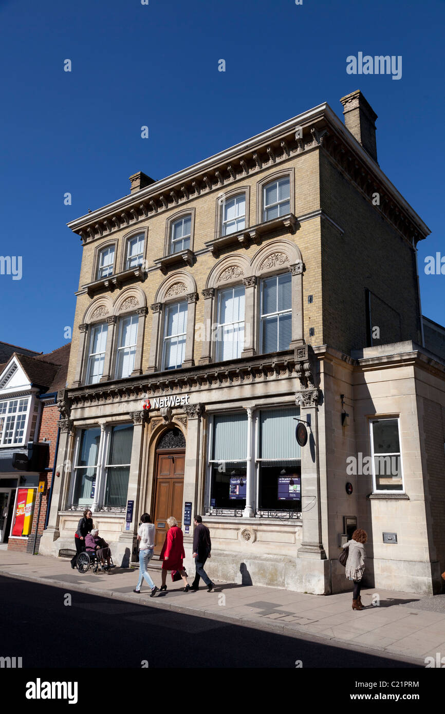 Small 'natwest' bank branch in traditional building on Petersfield high street - Stock Image
