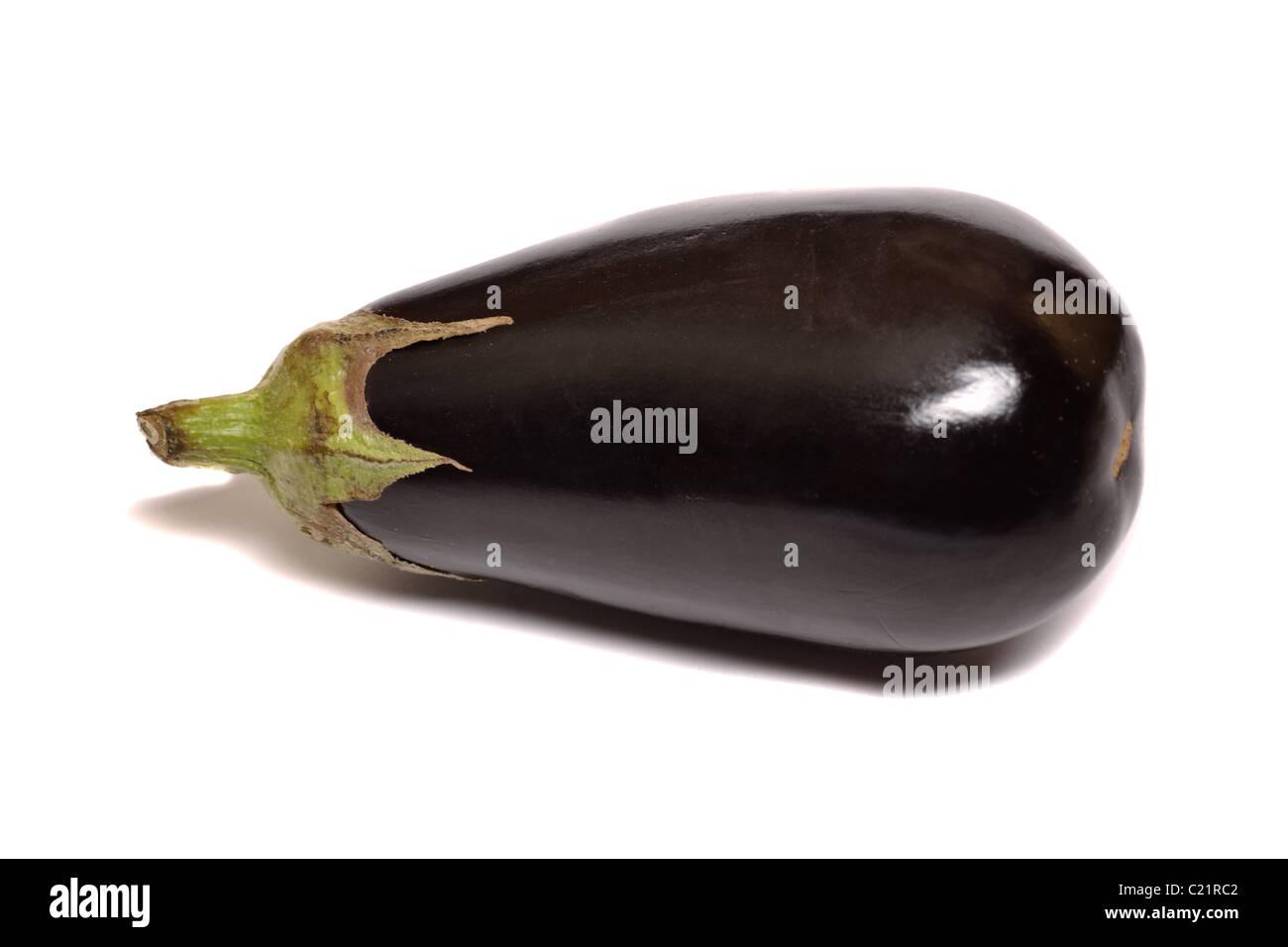 Eggplant isolated on a white background - Stock Image
