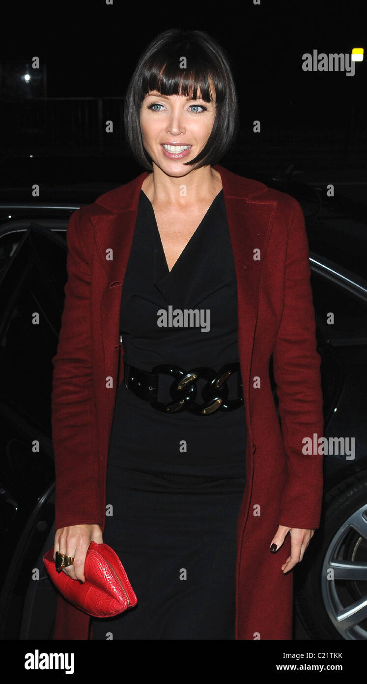 Dannii MinogueCVQO Appeal - launch and photocall at The Cavalry and Guards Club. London, England - 06.10.09   WENN.com - Stock Image