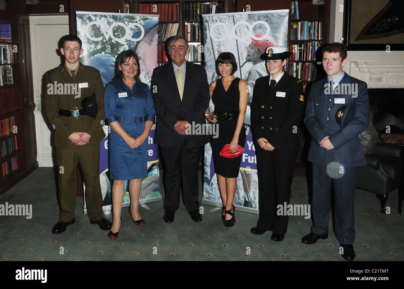 Dannii Minogue and Lorraine Kelly CVQO Appeal - launch and photocall at The Cavalry and Guards Club.  London, England - Stock Image