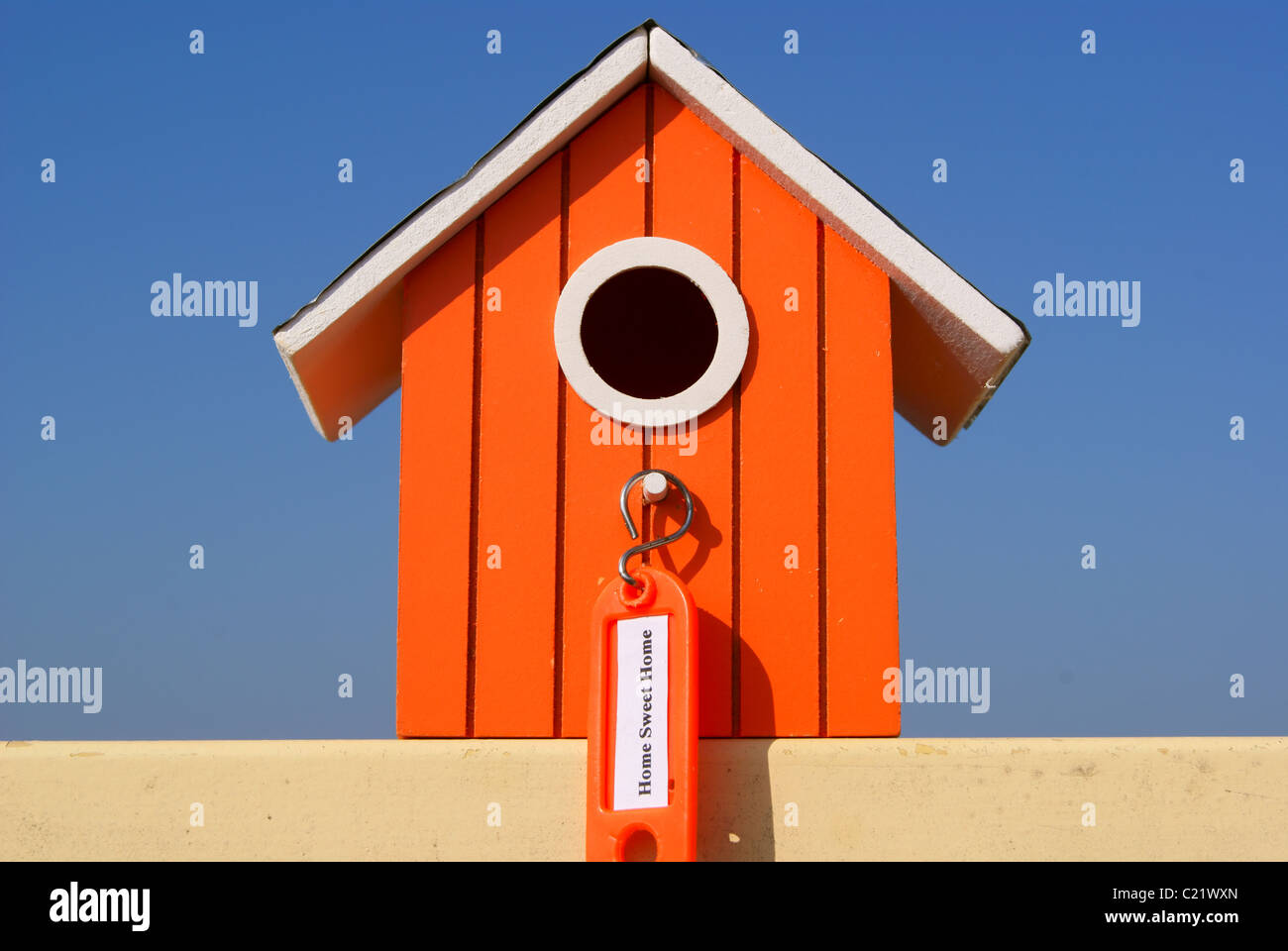 Home Sweet Home with label - Stock Image