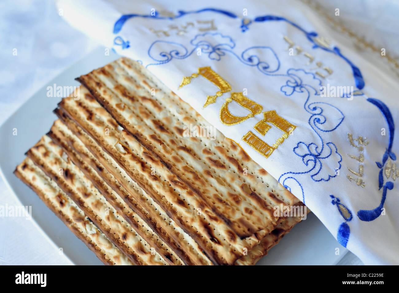 Jewish Holidays - Passover - Pesach - Seder - Matzo -Matzah - Stock Image