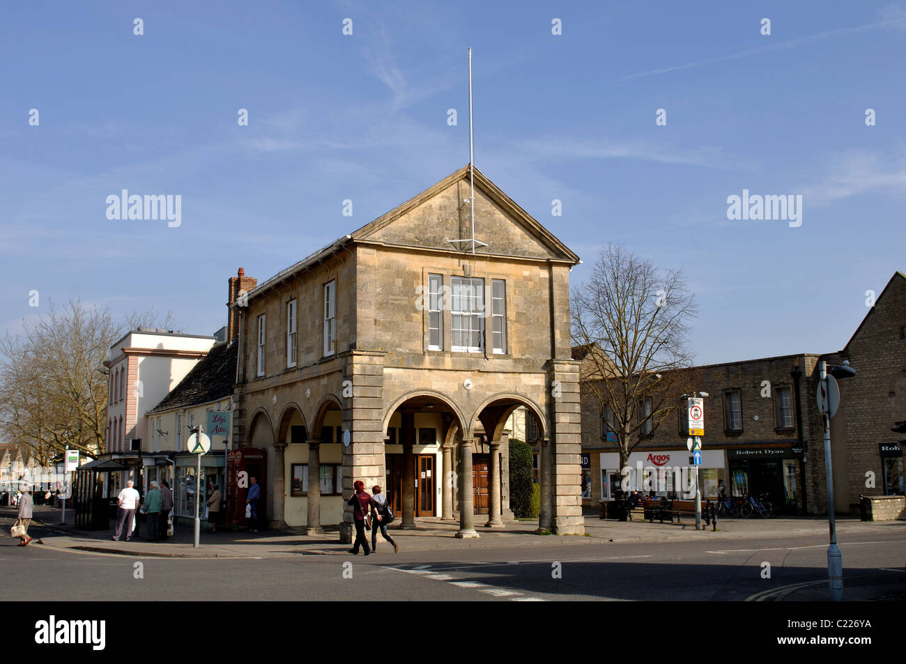The Town Hall, Witney, Oxfordshire, England, UK - Stock Image