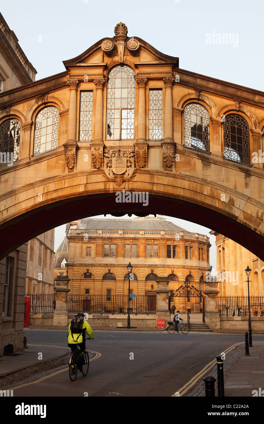 """Hertford Bridge"", ""Bridge of Sighs"", ""New College Lane"", Oxford, England, UK Stock Photo"