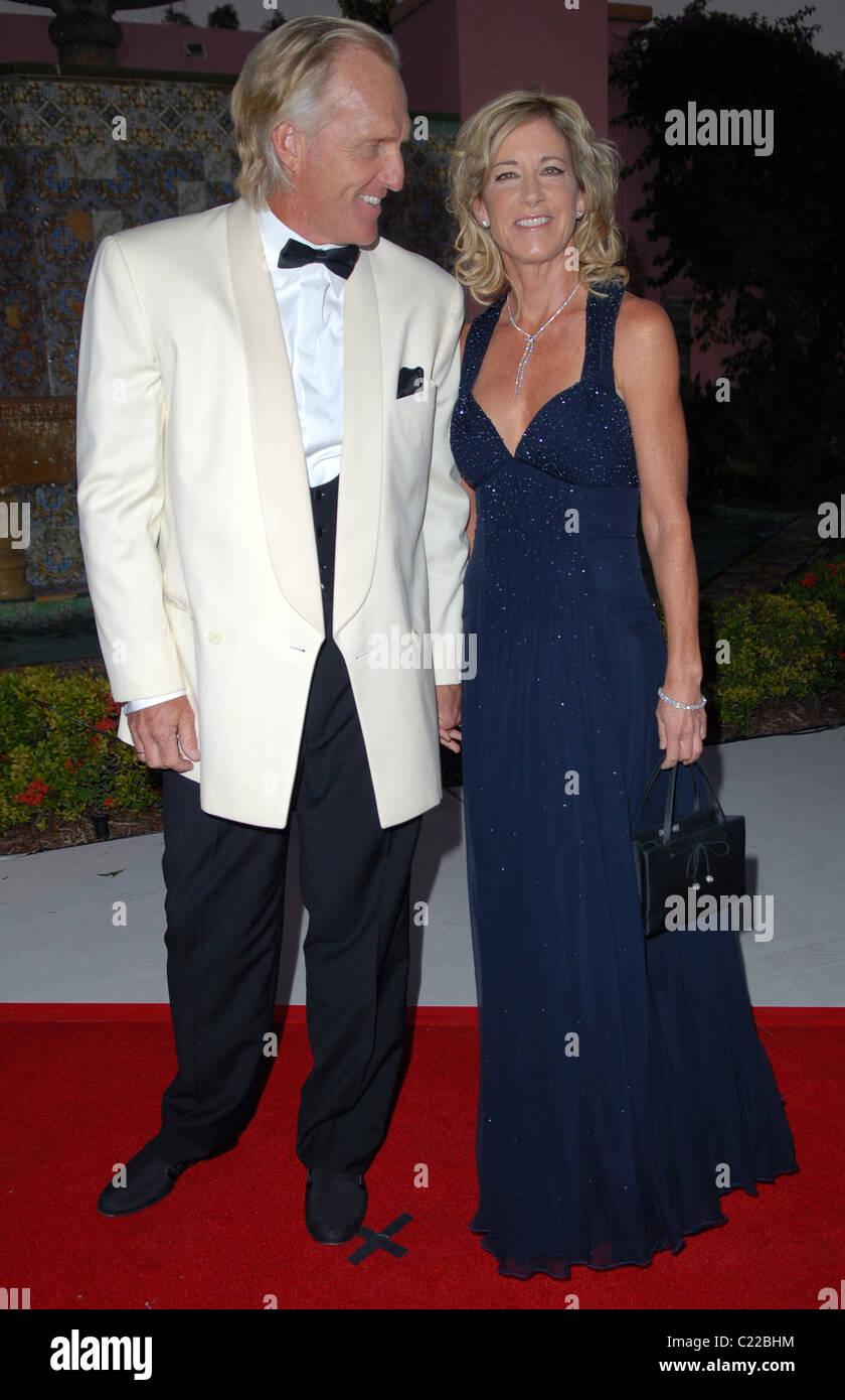 Greg Norman And Chris Evert Chris Evert Annual Celebrity Tennis Stock Photo Alamy