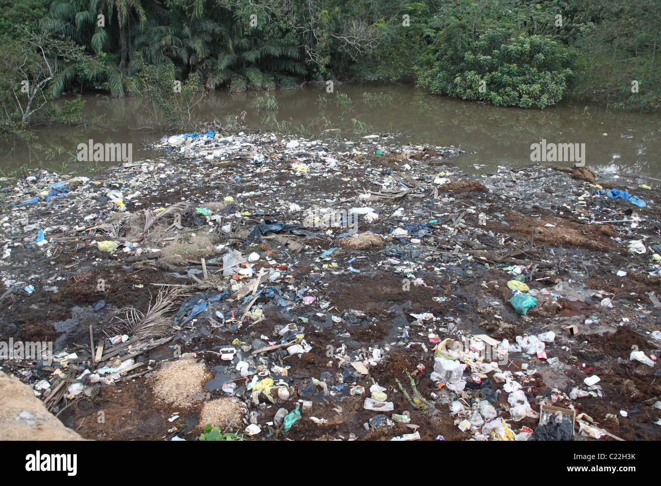 Polluted Water Peru - Stock Image