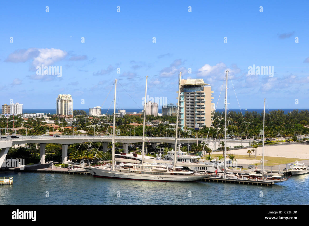 Yachts and boats in Fort Lauderdale Stock Photo