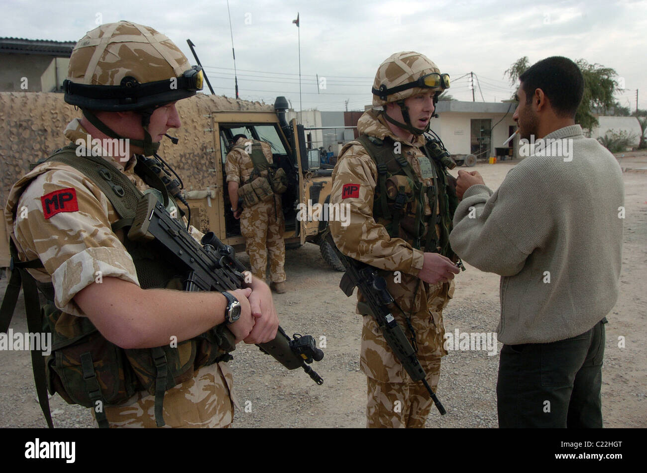 The Royal Military Police (RMP) are the Army's specialists in Investigations and Policing and are responsible - Stock Image
