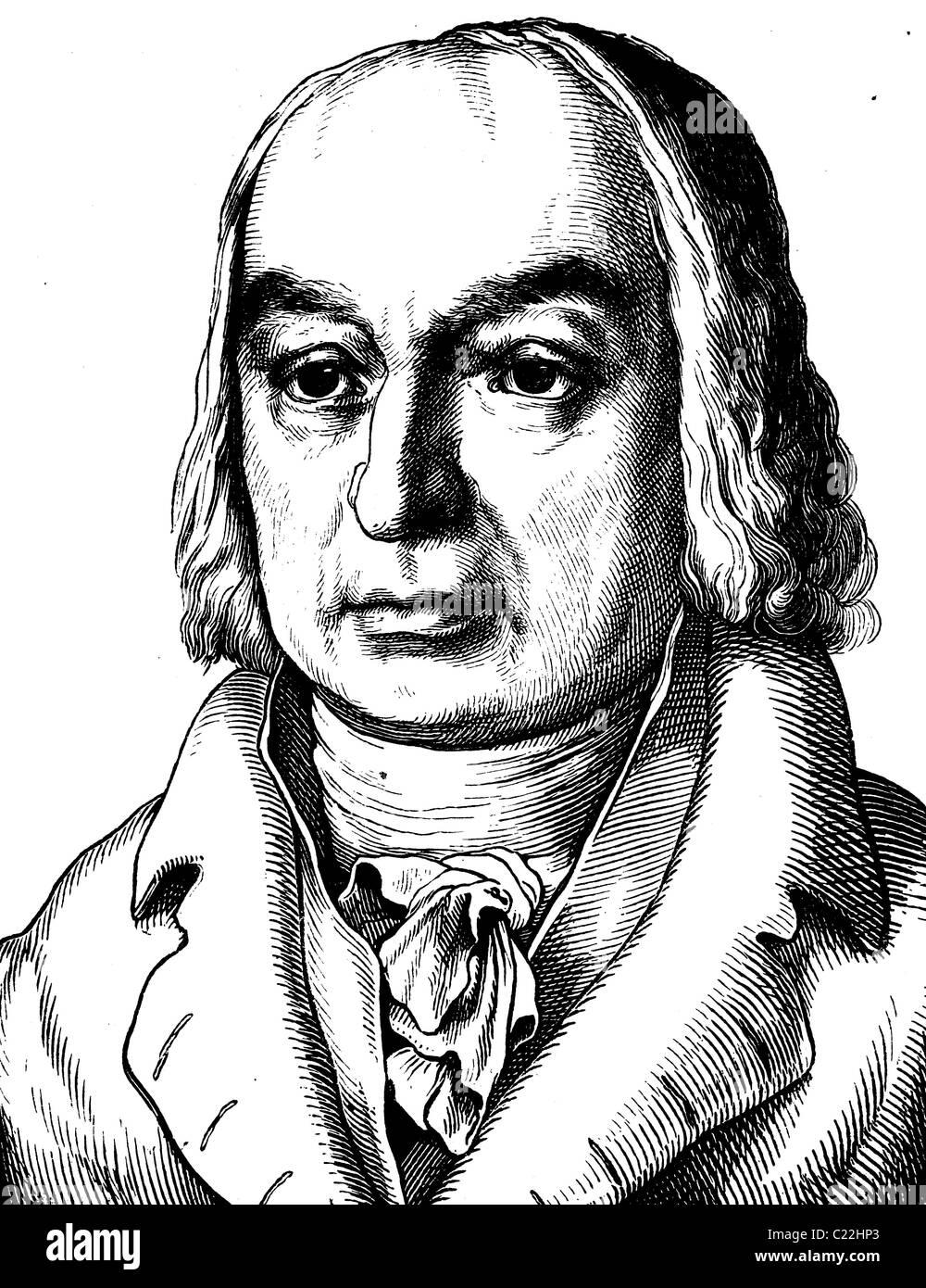 Franz de Paula Gruithuisen, 1774 - 1852, astronomer and naturalist, portrait, historical illustration, 1880 - Stock Image