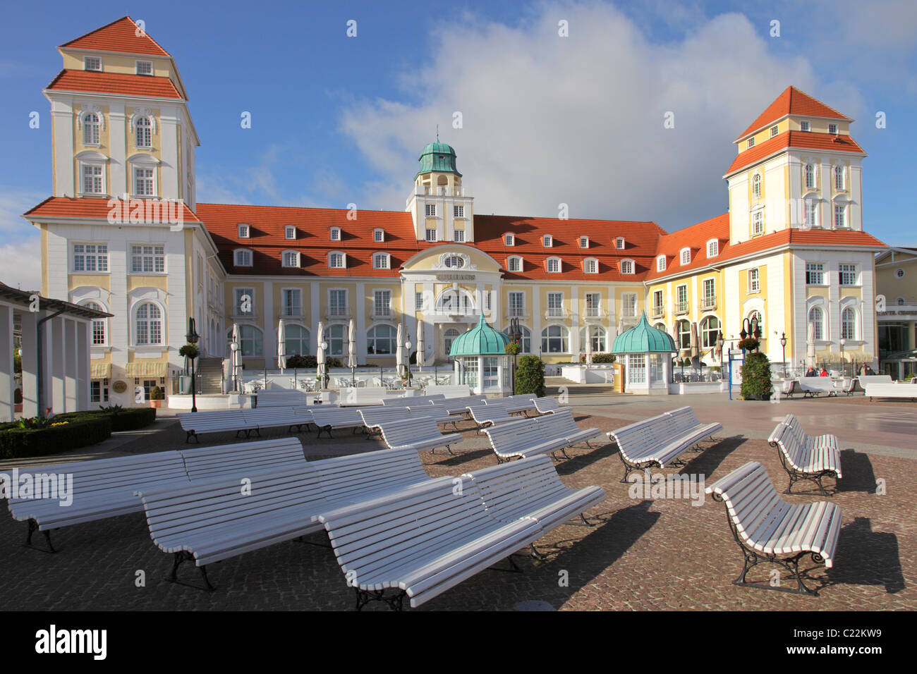spa hotel in Binz; Kurhaus in Binz Stock Photo
