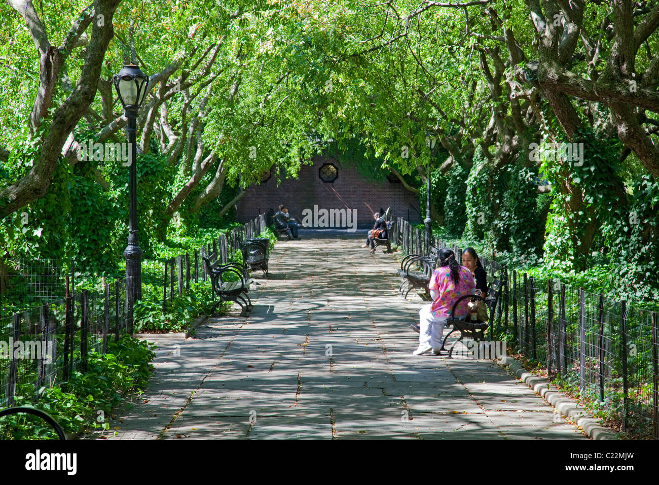 Conservatory Gardens, Central Park, Manhattan, New York - Stock Image