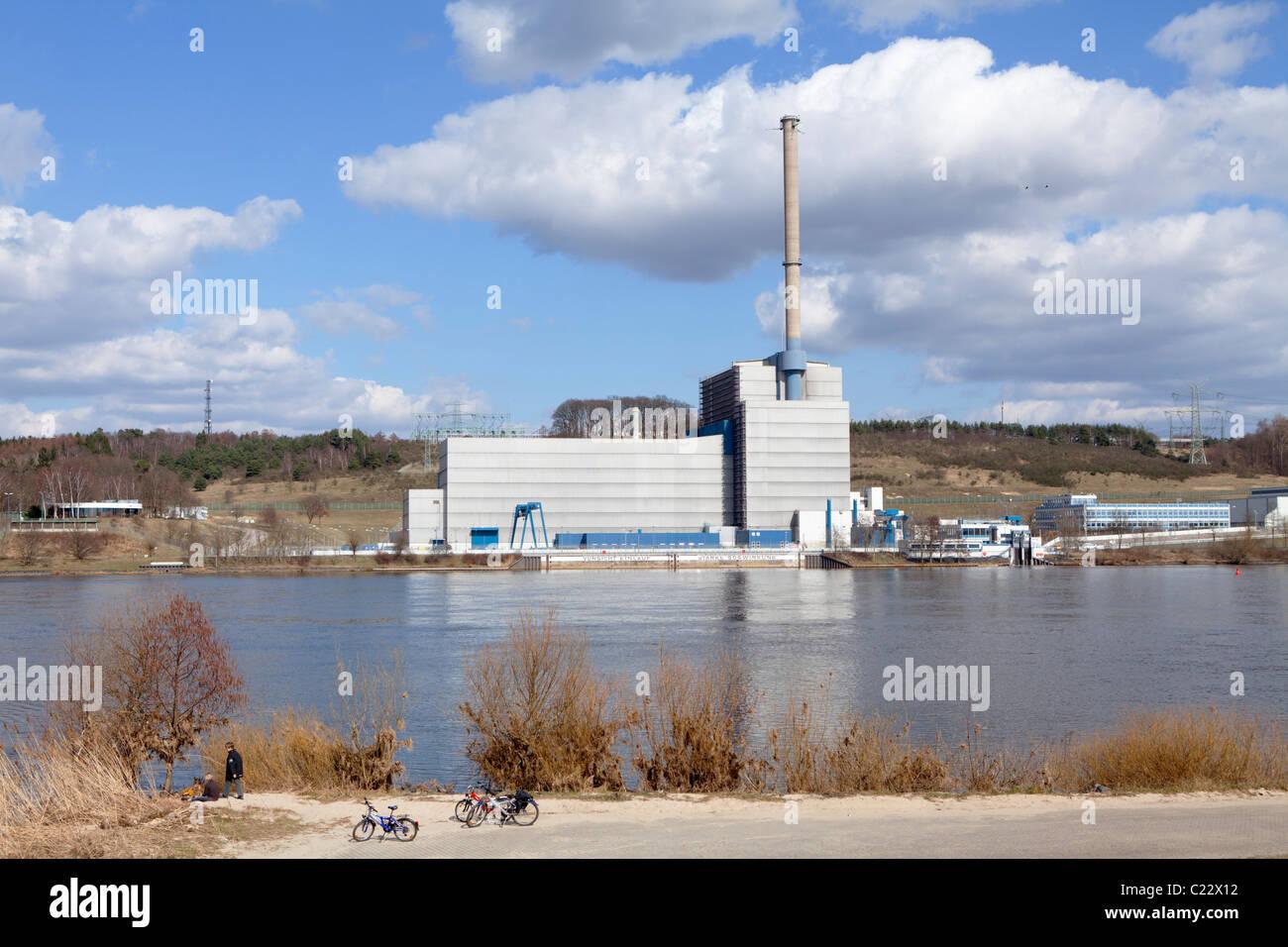 nuclear power station Kruemmel near Geesthacht, Schleswig-Holstein, Germany Stock Photo