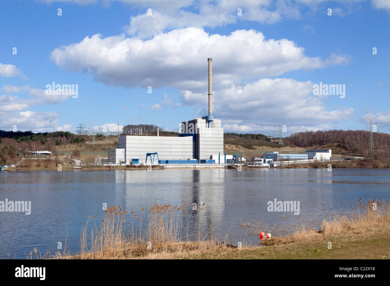 nuclear power station Kruemmel near Geesthacht, Schleswig-Holstein, Germany Stock Photo