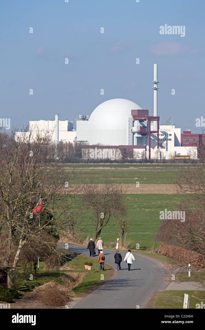 nuclear power station Brokdorf, Schleswig-Holstein, Germany Stock Photo