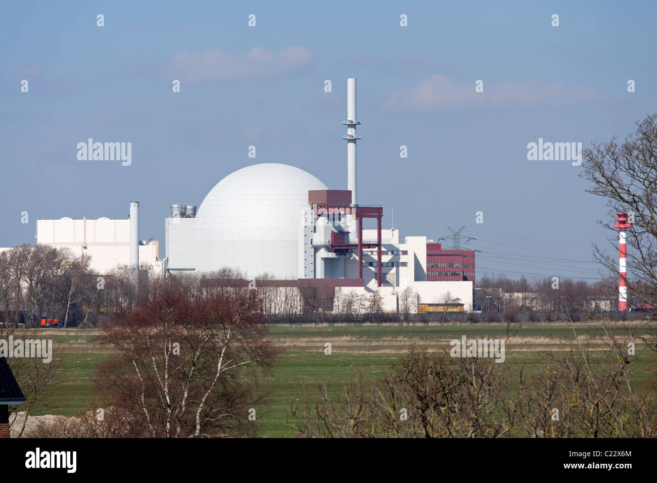nuclear power station Brokdorf, Schleswig-Holstein, Germany - Stock Image