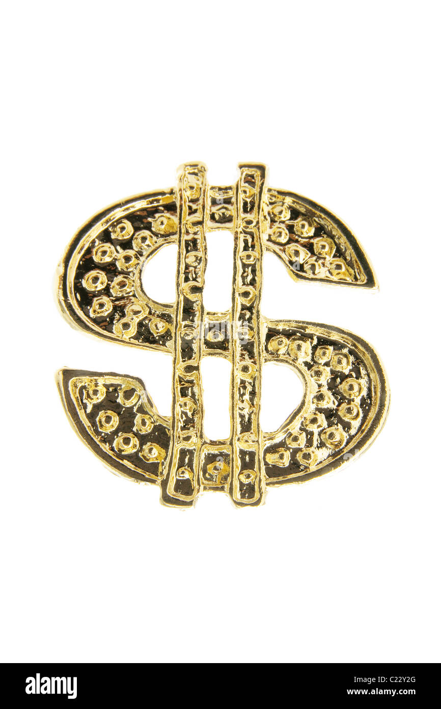 Gold Dollar Sign - Stock Image